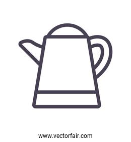 Isolated tea or coffee kettle gradient style icon vector design