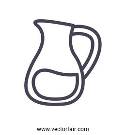 Isolated drink jar gradient style icon vector design