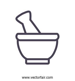Isolated bowl gradient style icon vector design