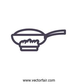 Isolated frying pan gradient style icon vector design