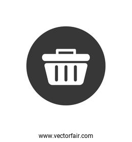 Isolated trash block flat style icon vector design