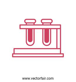 test tubes on stand icon, line style