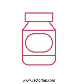 medical pills bottle icon, line style