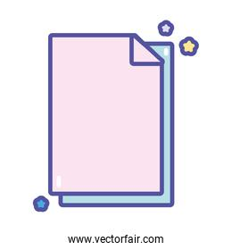 back to school education paper sheet supply