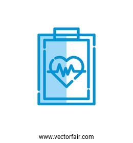 Isolated medical heart pulse icon vector design