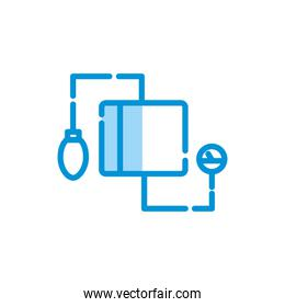Isolated medical blood pressure kit icon vector design