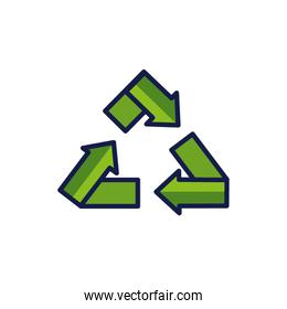Isolated recycle icon vector design