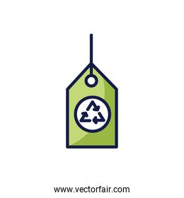 Isolated recycle label icon vector design