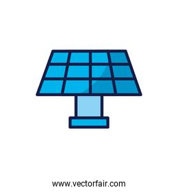 Isolated solar panel icon vector design