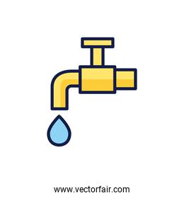 Isolated water tap icon vector design