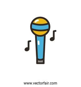 Isolated music microphone vector design