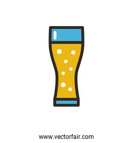 Isolated glass of beer design