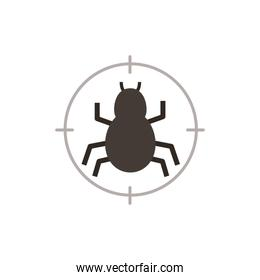 Spider of security system vector design