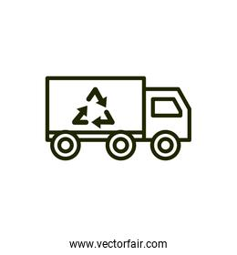truck recycle environment ecology line and fill