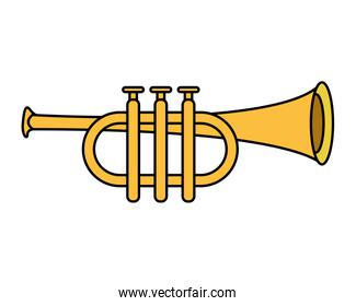 trumpet air instrument musical icon