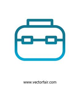 business briefcase user interface blue gradient