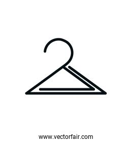 wardrobe hanger icon shopping line style