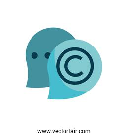 speech bubble message chat property intellectual copyright icon