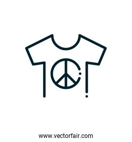 t-shirt peace and human rights line