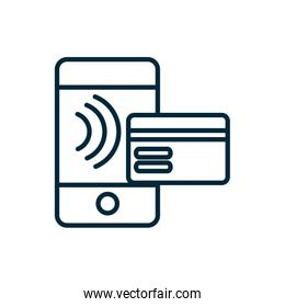 smartphone bank card transaction internet of things icon