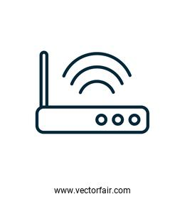 router technology signal internet of things line icon