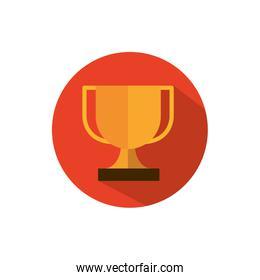 trophy award cup business strategy icon block shadow