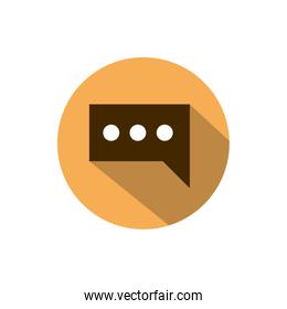 speech bubble dialogue business strategy icon block shadow