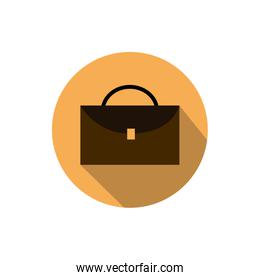 suitcase document business strategy icon block shadow