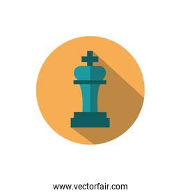 chess piece business strategy icon block shadow
