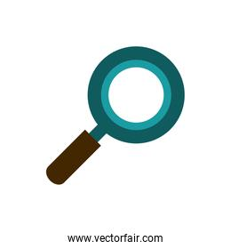 magnifying glass searching business strategy icon