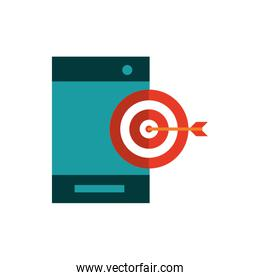 smartphone target business strategy icon