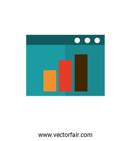 website report chart business strategy icon