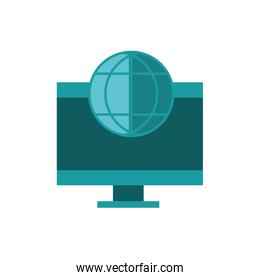 computer world business strategy icon