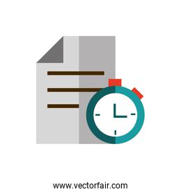 document chronometer business strategy icon