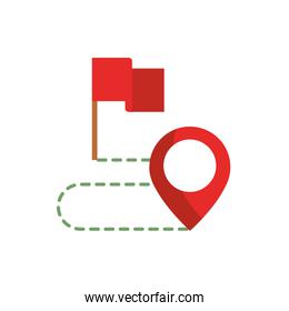 flag route pointer gps map and navigation