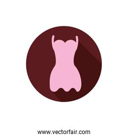 Isolated female dress icon vector design