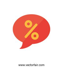 Isolated sale bubble with percent symbol