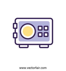 Isolated strongbox icon fill vector design