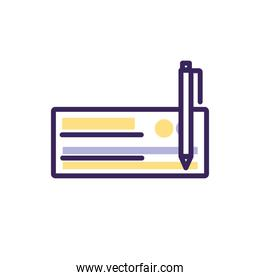 Isolated check and pen icon fill vector design