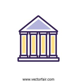 Isolated bank icon fill vector illustration