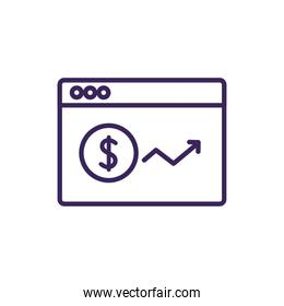 Isolated website icon line vector design