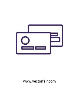 Isolated credit card icon line vector design