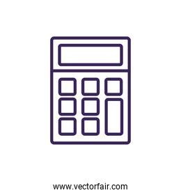 Isolated calculator icon linear style