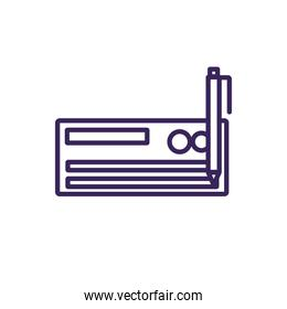 Isolated check and pen icon line vector design