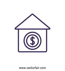 Isolated bank icon line vector design