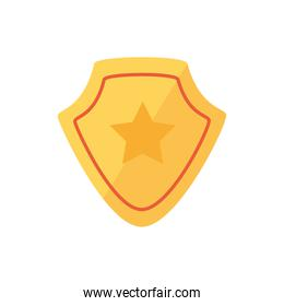 Isolated gold shield icon vector design