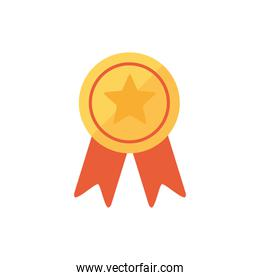 Isolated gold medal icon vector design