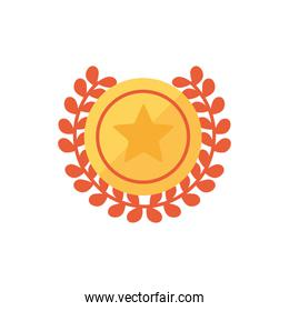 Isolated gold seal icon vector design