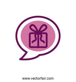 Isolated gift icon fill vector design