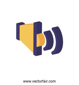 Isometric and isolated speaker icon vector design
